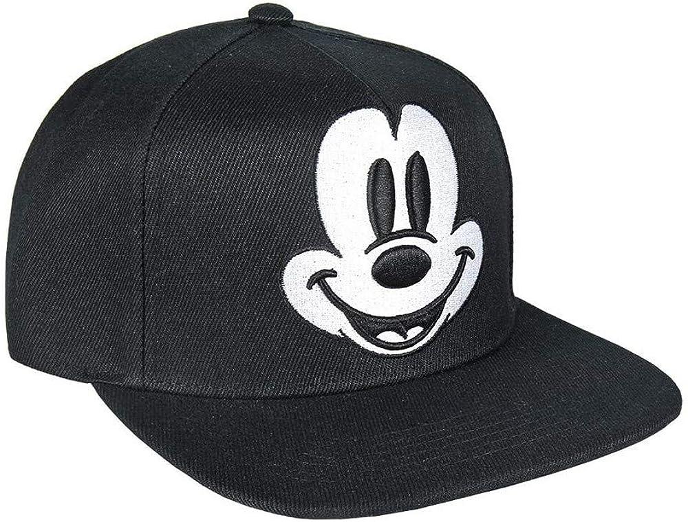 Rojo 58 cm Unisex Adulto Cerd/á Mickey Mouse Malla Negra Ajustable-58 cm Gorra de b/éisbol