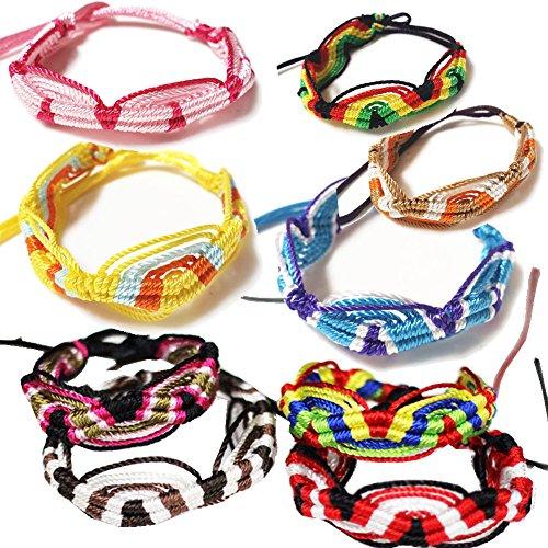 (Rimobul Peru 10 Assorted Colors Woven Friendship Bracelets - 20 pack)