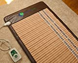 HealthyLine Infrared Heating Mat (Soft & Flexible)|TAJ, Natural Amethyst, Jade & Tourmaline Ceramic, (Full-Body) 60″ x 24″ |Relieve Pain, Sore Muscles, Arthritis and Injury Recovery |US FDA