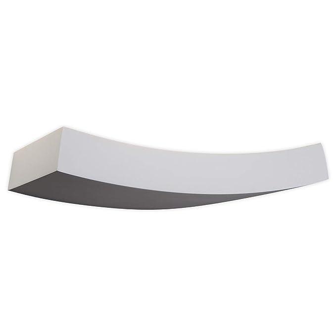 Applique 'Leander' (Moderno) colore Bianco, in Argilla ad es. Soggiorno andamp; Sala da pranzo (1 luce, G9, A  ) di Lampenwelt   faretto a parete, applique
