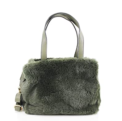 LeahWard Women s Faux Fur Handbags Quality Designer Tote Bags For Women  Holiday 0433 (Army Green aac72e271d