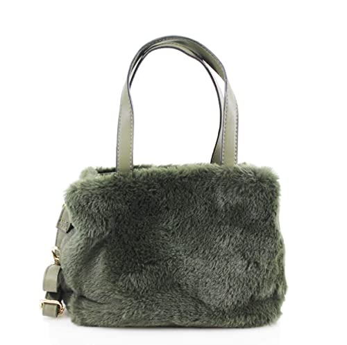 ec865a968156 LeahWard Women s Faux Fur Handbags Quality Designer Tote Bags For Women  Holiday 0433 (Army Green