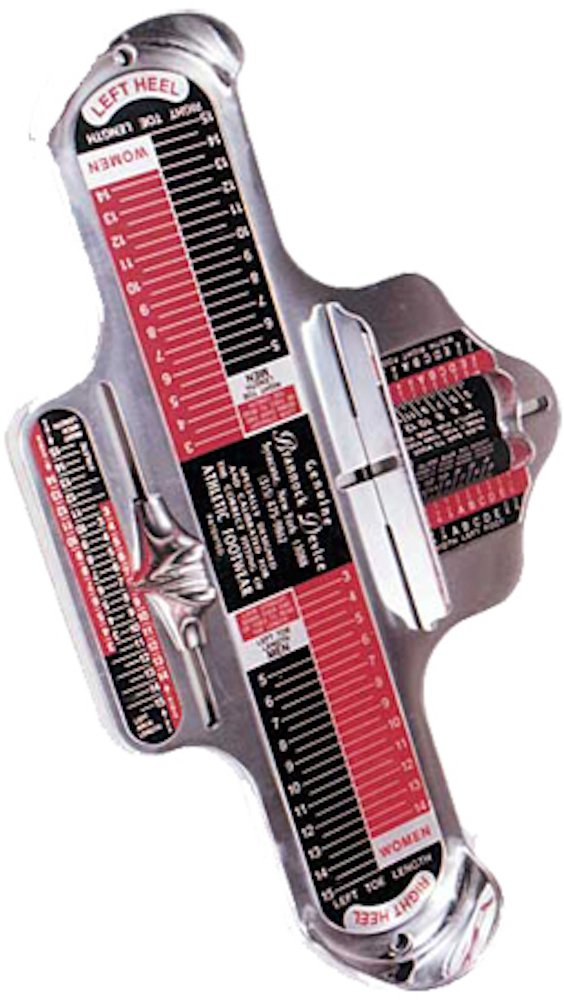 Athletic (US) Genuine Brannock brand Device - international standard for foot-measuring/shoe-fitting