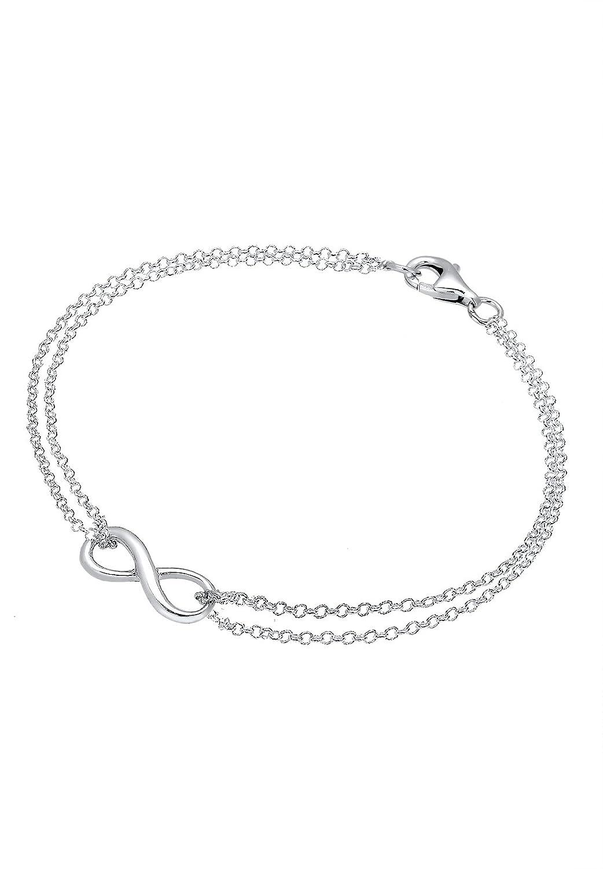 9467e0d5c1708 Elli - Bracelet Femme - Argent 925 1000 avec Symbole Infini  Amazon.fr   Bijoux