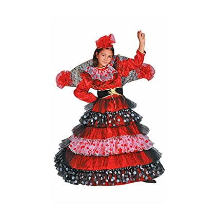 Dress Up America Disfraz de Bailarina de Flamenco: Amazon.es ...