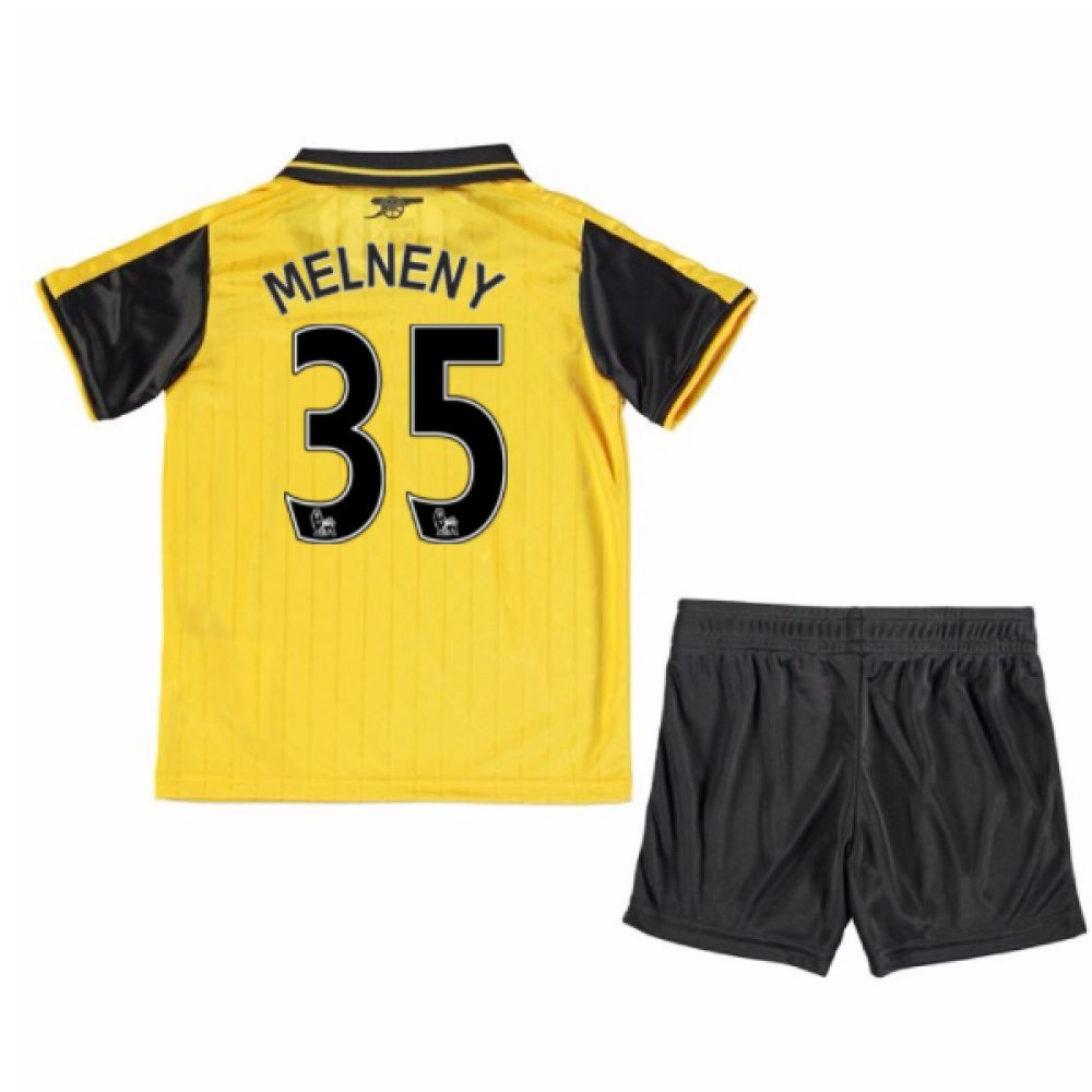UKSoccershop 2016-17 Arsenal Away Mini Kit (Mohamed Elneny 35)