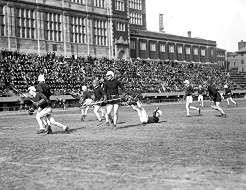 1924 Maryland State vs Annapolis Lacrosse Vintage Photograph Reprint