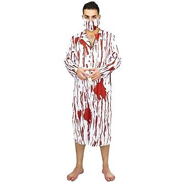 LUOEM Disfraz de Halloween Horror para Adultos Cosplay Traje de ...