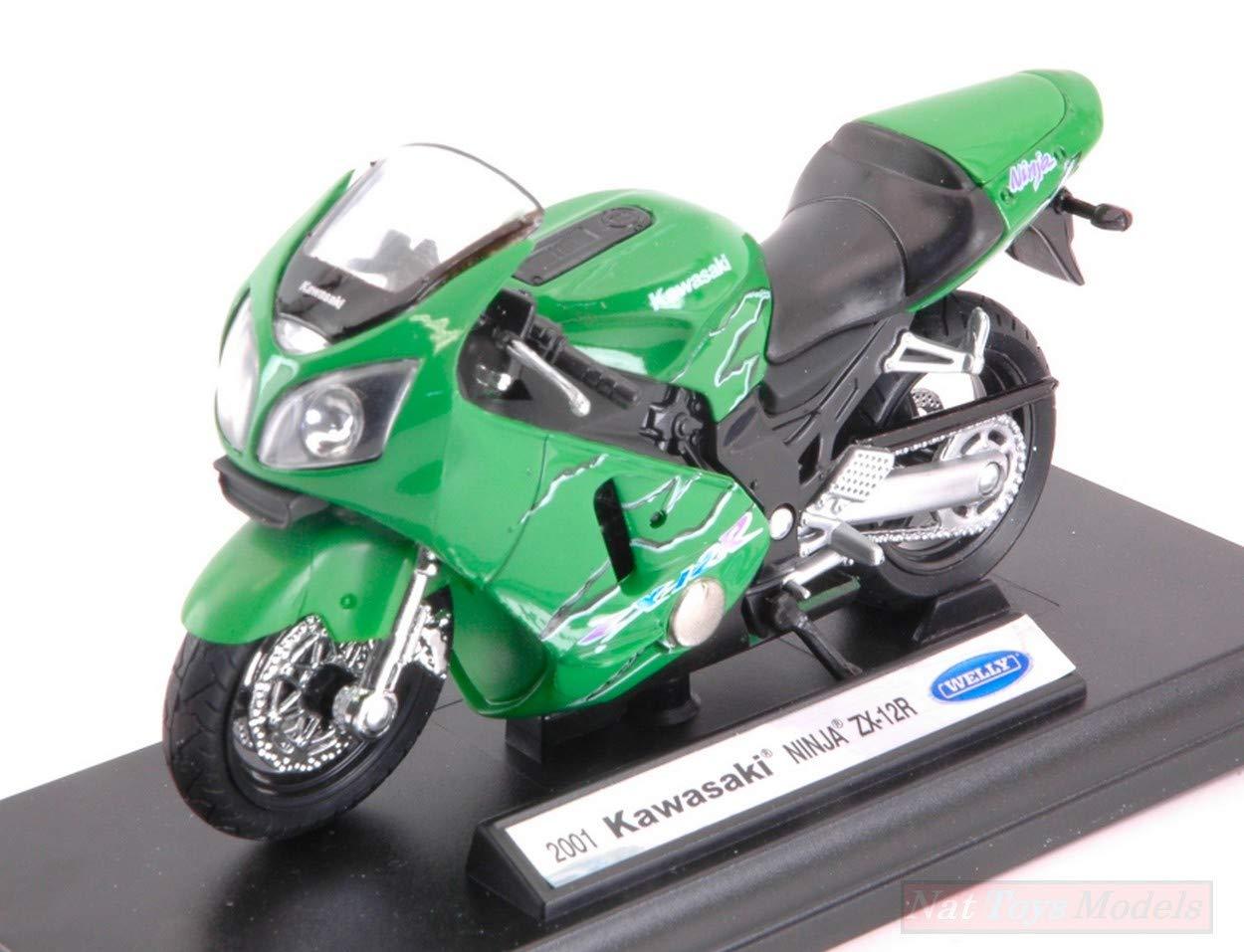 Welly WE12167 Kawasaki Ninjia ZX-12R 2001 Green 1:18 ...