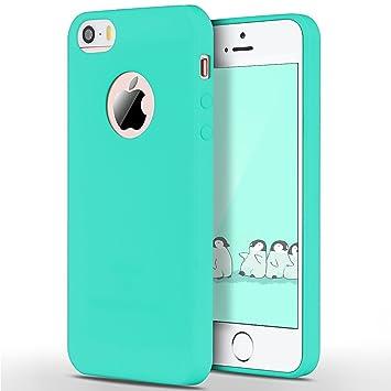 SpiritSun Funda iPhone 5 / 5S Soft Carcasa Funda Diseño Mate Opaco Ultrafina TPU Bumper Suave Silicona Piel Carcasa Ultra Delgado y Ligero Goma ...