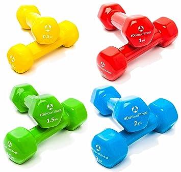 8x de Pesas de vinilo »Hexagon« / Mancuernas disponibles en diferentes pesos y colores / (2x0,5kg, 2x1kg, 2x1,5kg,2x2kg) : Amazon.es: Deportes y aire libre