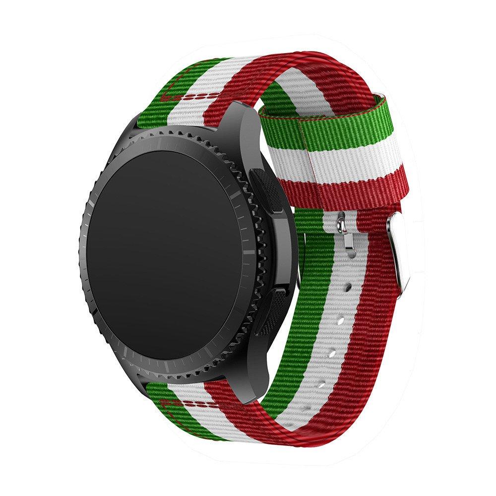 聖Dona用プレミアムナイロン時計バンドSamsung Gear s3フロンティア/ s3 Classic Watch用交換バンドスポーツブレスレットストラップ調節可能メタルステンレススチールクラスプバックル GS3D GS3D B074C91J7B