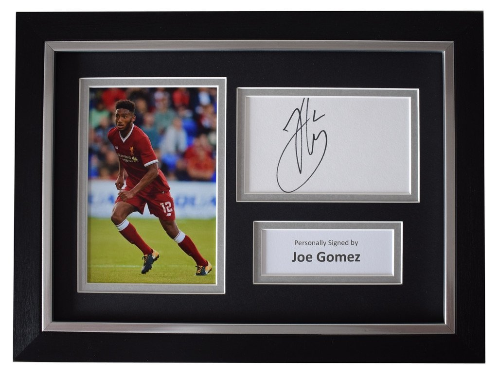 f26cdad5905 Sportagraphs Joe Gomez SIGNED A4 FRAMED Autograph Photo Display Liverpool  Football COA Perfect Gift  Amazon.co.uk  Sports   Outdoors