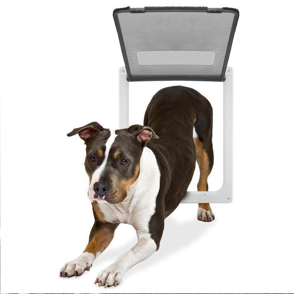 Namsan 4 Way Cat Puppy Doggie Lockable Door For Window/Door (Large, White)