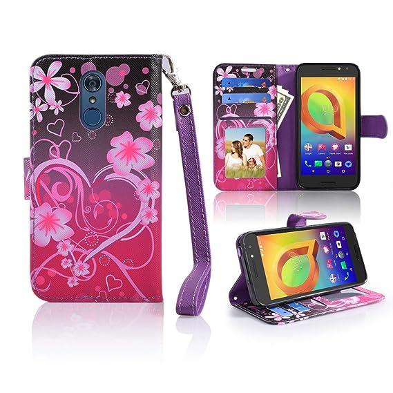 more photos 73598 f246a Amazon.com: LG Q7 Case, LG Q7 Plus Case [Wrist Strap] Luxury PU ...