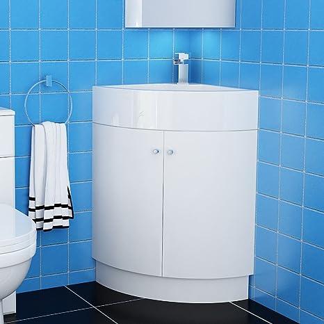 Vanity-Mobile bagno con lavandino angolare da bagno, a ...