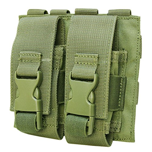 Flashbang Grenade Pouch - OD GREEN Molle Tactical Double Flash Bang Pouch PALS MAG Bag 2 Grenade Holder
