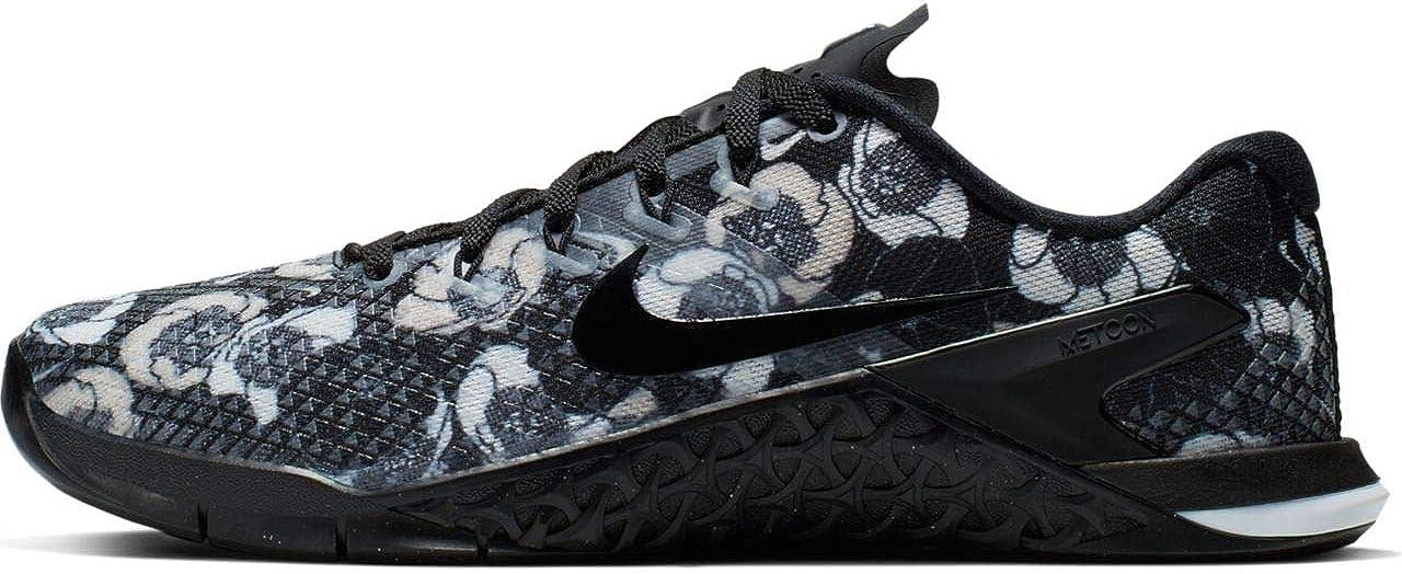 Nike Women's Metcon 4 Premium Training Shoes (9, 黒/黒-白い)