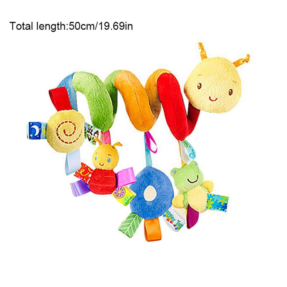 Leegoal Stroller Toy,Baby Lathe Hanging Rolor Ring Toy,Spiral Toy Car Seat,Baby Lathe Hanging Color Code Bed Around Baby Bed Around Bed Hanging Bed Bell Car Hanging Plush Toys