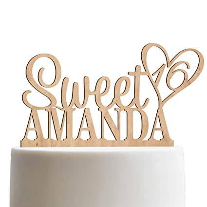 48d48754a Image Unavailable. Image not available for. Color: Personalized Sweet  Sixteen ...
