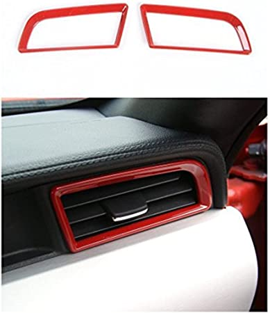 Interior Dash Board Air Vent Cover Decoration Outlet Frame Trim For Ford Mustang