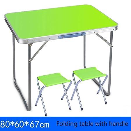 Yuan Table Mesa Plegable Cuadrada pequeña - y Silla con Mango Mesa ...
