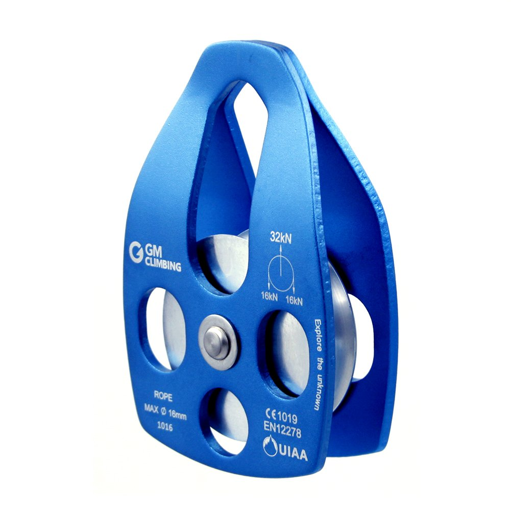 GM CLIMBING 32kN Mobile Rescue Pulley Blue by GM CLIMBING