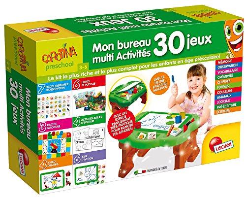 Lisciani - Jeux Educatifs - FR58723 - Mon Premier Bureau Multi ACTIVITES 30 Jeux