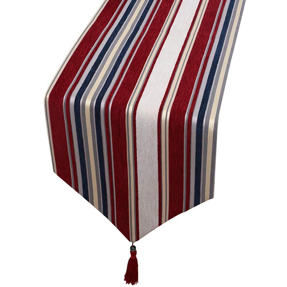 Amazon.com: Table Runner, Tassel, Red Stripes Table Flag ...