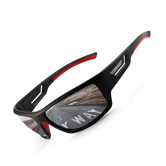 PUKCLAR Gafas de sol deportivas polarizadas para hombres y mujeres, gafas de sol para conducir, ciclismo, correr, pescar, montura irrompible