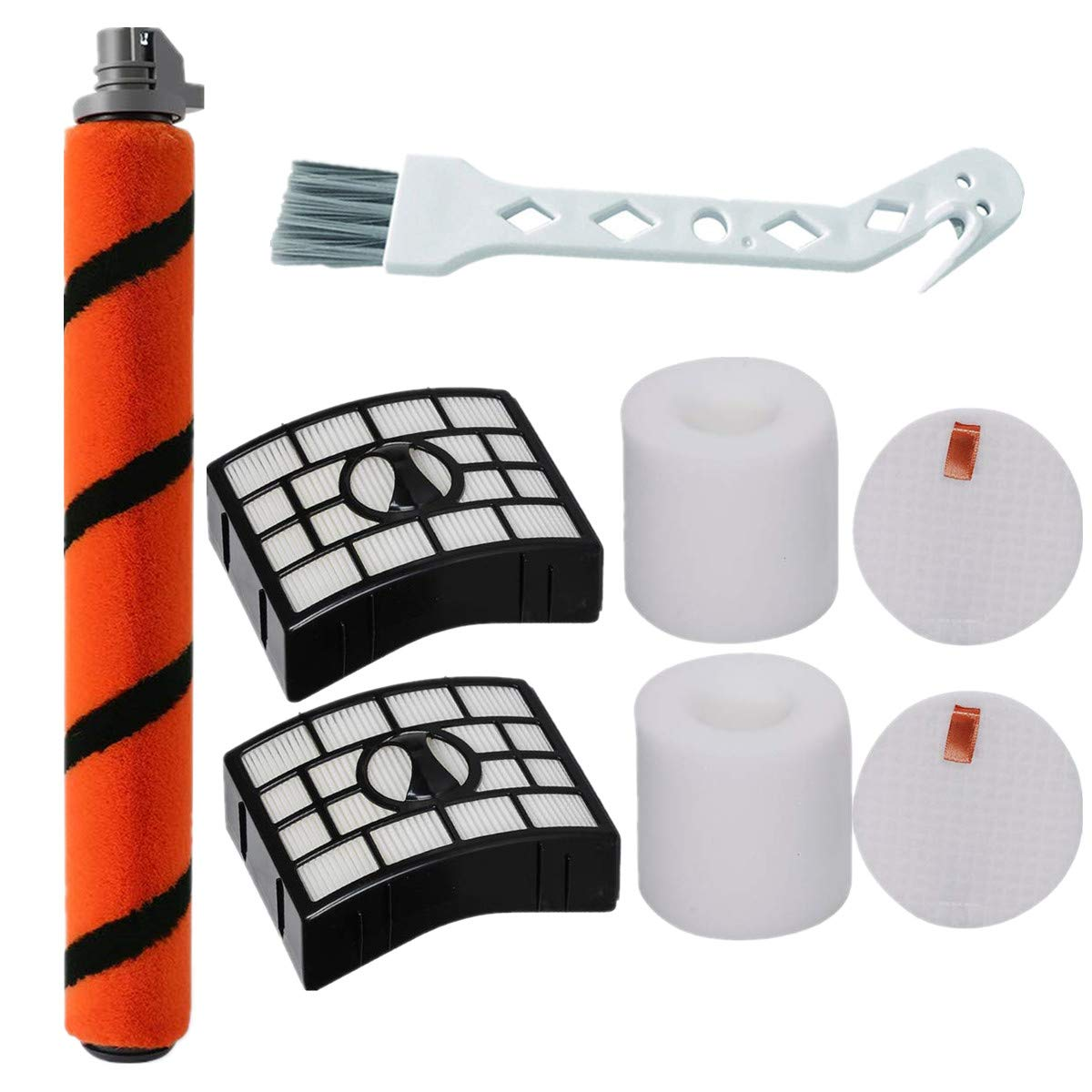 Bsnuo Brush Roll and 2 Filters Kit Replacement for Shark APEX DuoClean AZ1002 AZ1000 AZ1000W AX951 AX952 Vacuum Cleaner (1 Brush Roll+ 2 Filters)
