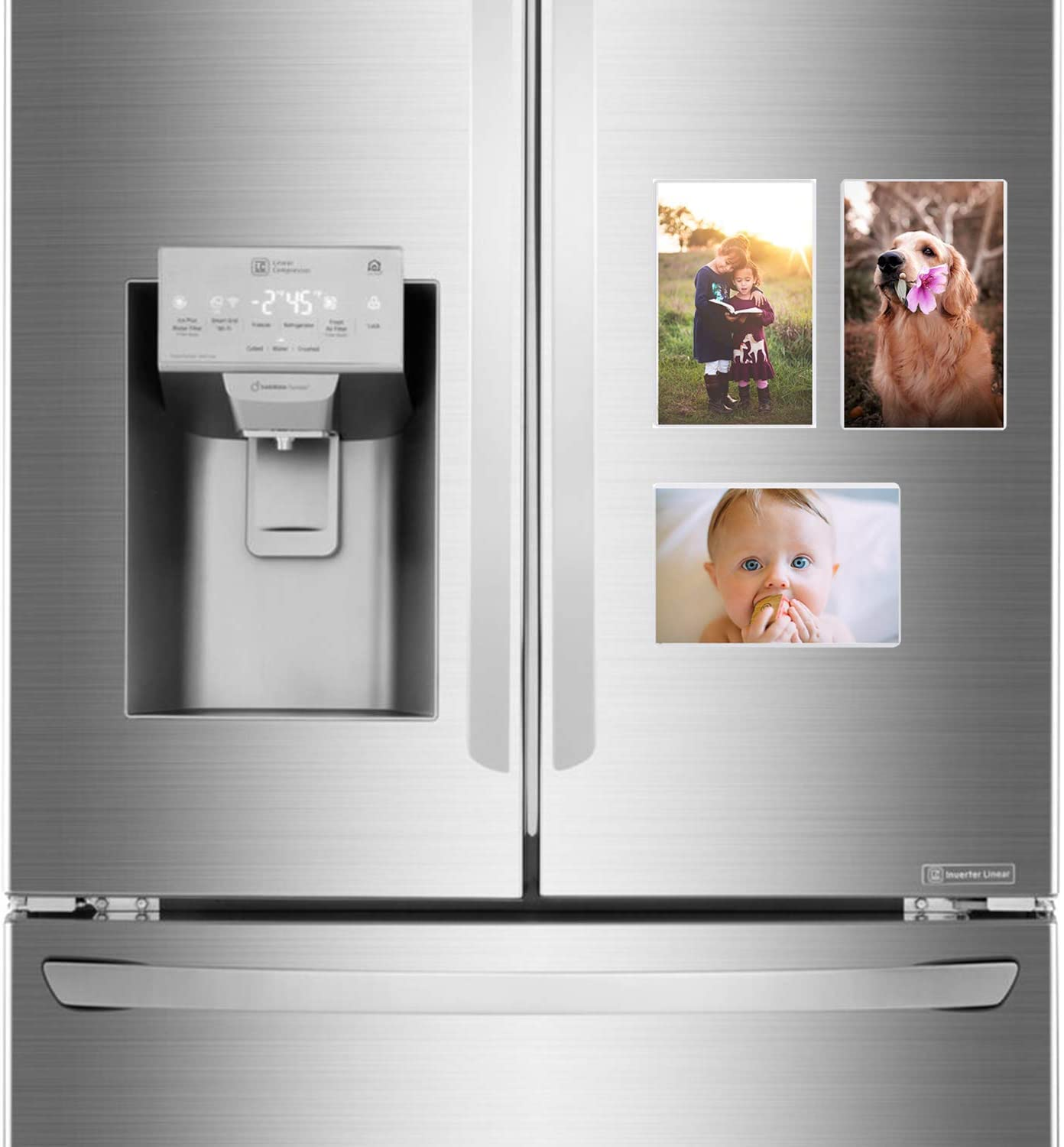 Magnetic Photo Holders for Refrigerator Holds 4x6 Photos White Magnetic Photo Pockets 1 Magnetic Photo Picture Frames