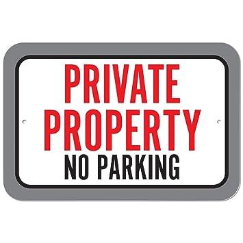 Plástico Sign propiedad privada prohibido aparcar, plástico ...