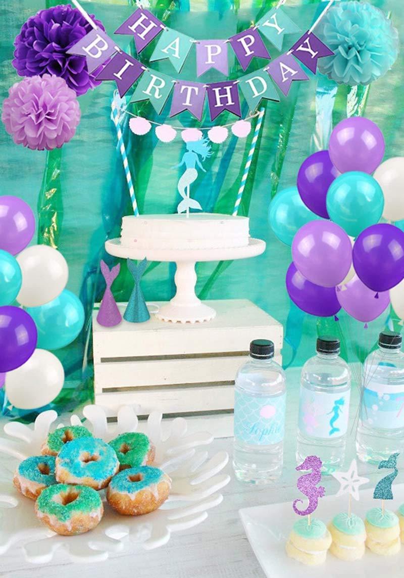Newin Star Juquete Decoraciones del Partido Sirena y Fuentes de la Ducha Bebé Debajo de los favores del Partido del mar: Amazon.es: Juguetes y juegos