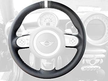 RedlineGoods ebrake Boot Compatible with Mini Cooper 2007-15 Black Leather-Black Thread