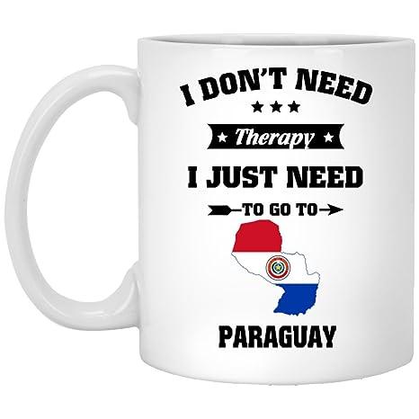 Amazon.com: Tazas de cumpleaños para Paraguay café taza – I ...