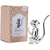 Silverplated Monkey silver ring jewellery holder - holds rings on his tail
