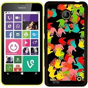 Funda para Nokia Lumia 630 - Manos Patrón De Colores by WonderfulDreamPicture