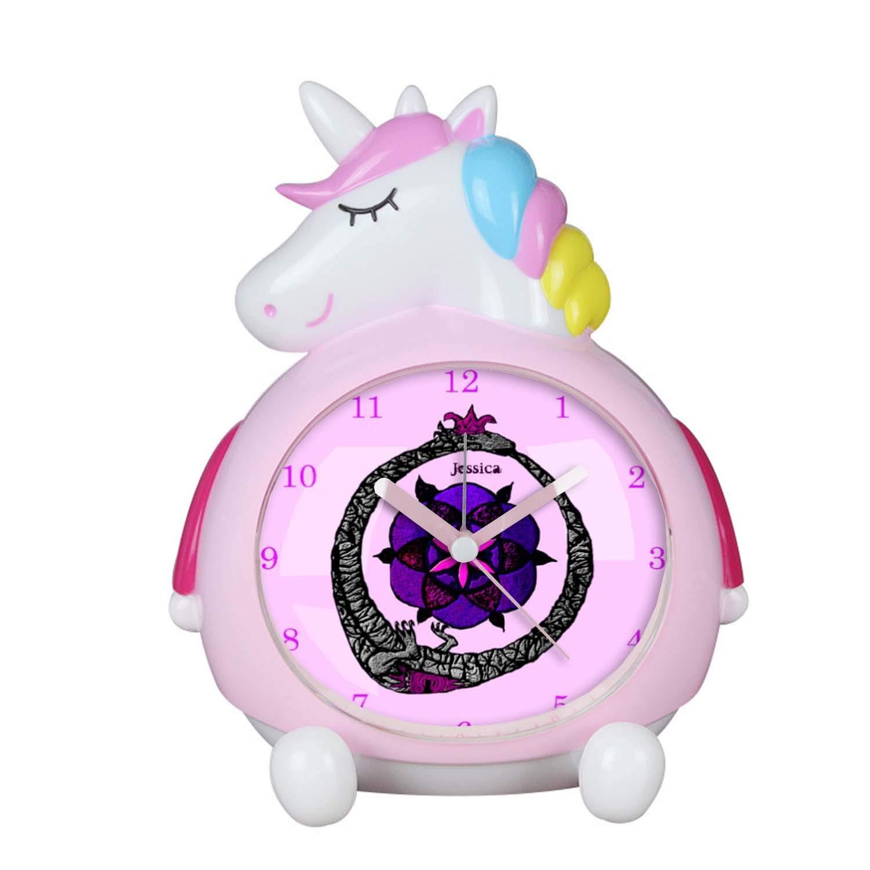 P Ouroboros & FlowerOfLife DJSNZ12 Unicorn Alarm Clock for Girls ...