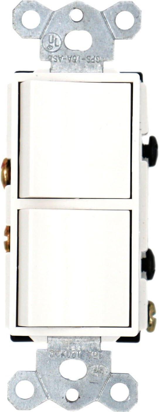 Baomain Duplex Rocker switch 15 Amp, 120 Volt, Single-Pole AC Combination Switch,
