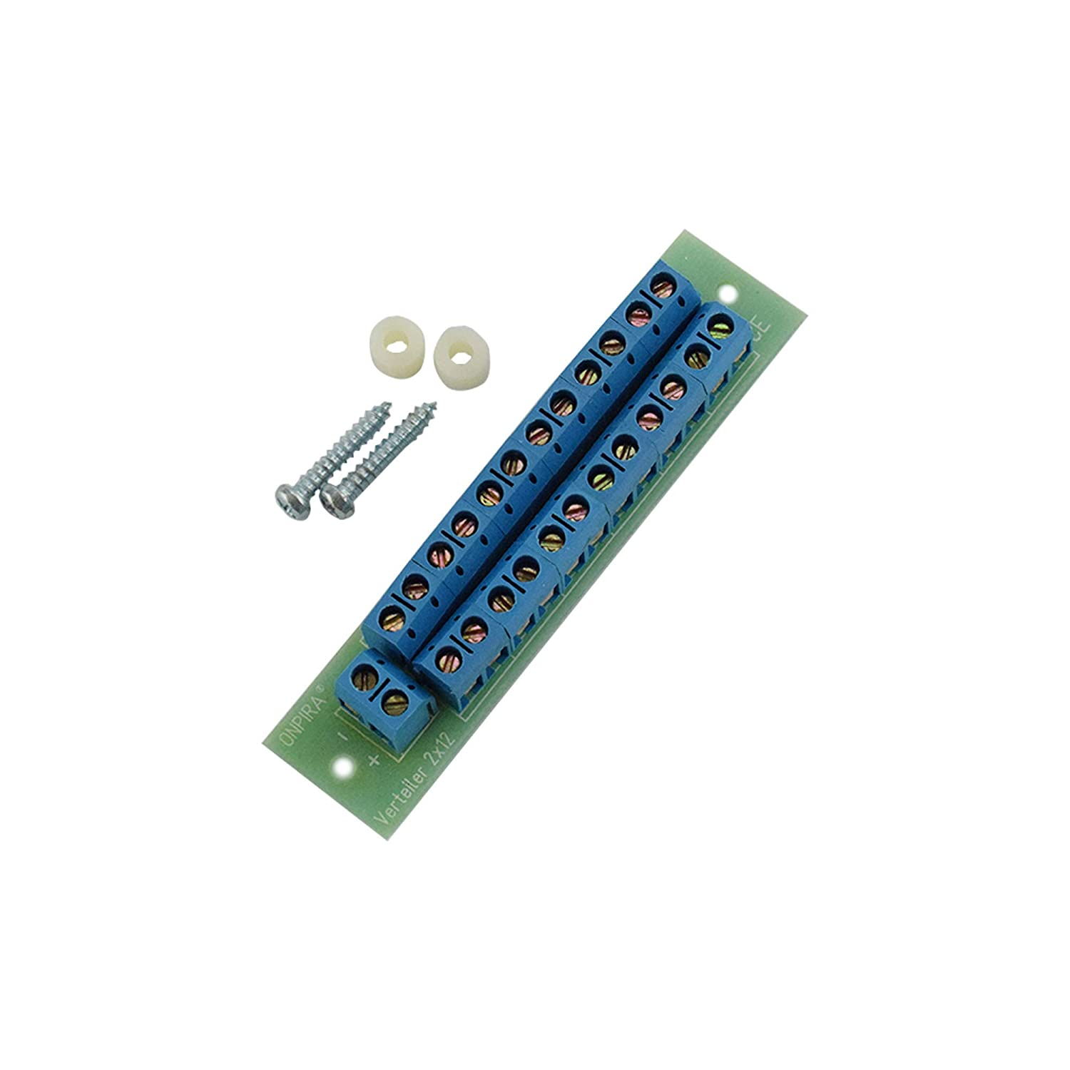 Power distribution 2x 18 Pin W2x18 with Socket Terminal and Control Lights