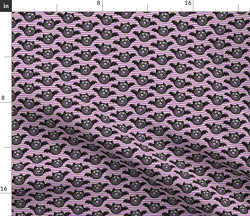 Spoonflower bat Fabric - Halloween Vampire Donut Bat Donuts Doughnuts Halloween Donuts Food by Littlearrowdesign Printed on Petal Signature Cotton Fabric by The Yard -