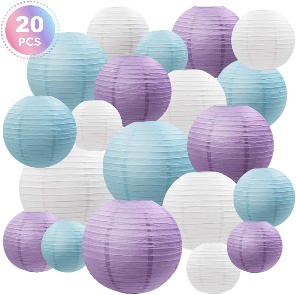 12in 30cm Medium Lilac Lanterns Pack Of 3