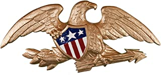 product image for Montague Metal Products Deluxe Flagpole Wall Eagle, 23-Inch, Gold