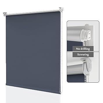 THERMOROLLO Klemmfix ohne Bohren VERDUNKELUNGSROLLO Thermo Fenster-Rollo Türen