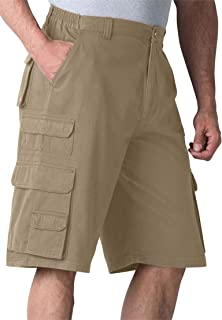 Boulder Creek Mens Big & Tall Ranger Side-Elastic Cargo Shorts