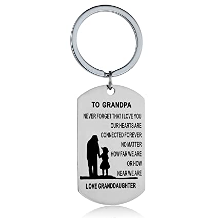 Amazon Grandpa Gifts From Granddaughter Keychain Gifts For