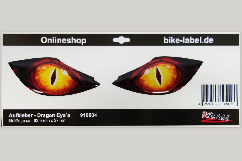 Bike Label 910004 Drachen Katzen Augen 3d Motorrad Helm Auto Aufkleber Auto