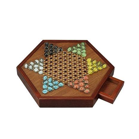 Amazoncom Huimade 125 Hexagon Wooden Board Games Set Chinese