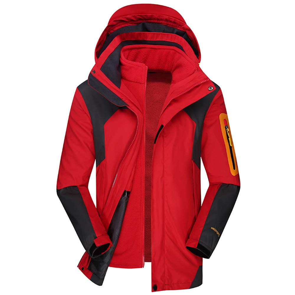 Pandaie-Mens Product OUTERWEAR メンズ XXX-Large レッド B07K7K4FP3